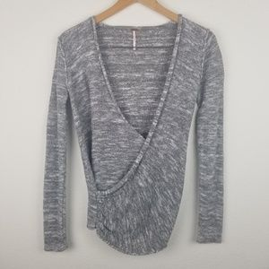 Free People top wrap front xs LINEN gray